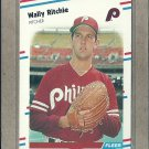 1988 Fleer Baseball Wally Ritchie Phillies #312