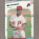 1988 Fleer Baseball Milt Thompson Phillies #319