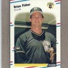 1988 Fleer Baseball Brian Fisher Pirates #329
