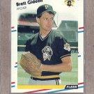1988 Fleer Baseball Brett Gideon Pirates #330
