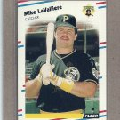 1988 Fleer Baseball Mike LaValliere Pirates #333
