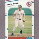 1988 Fleer Baseball Marty Barrett Red Sox #343