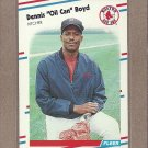 1988 Fleer Baseball Oil Can Boyd Red Sox #347