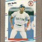 1988 Fleer Baseball Ellis Burks RC Red Sox #348