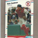 1988 Fleer Baseball Rich Gedman Red Sox #353