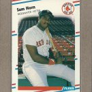 1988 Fleer Baseball Sam Horn RC Red Sox #355