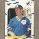 1988 Fleer Baseball Mike Campbell Mariners #372