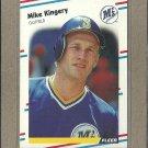 1988 Fleer Baseball Mike Kingery Mariners #376
