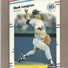 1988 Fleer Baseball Mark Langston Mariners #377