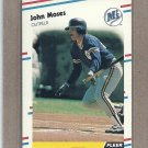 1988 Fleer Baseball John Moses Mariners #381