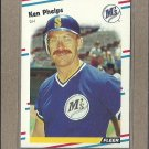 1988 Fleer Baseball Ken Phelps Mariners #384