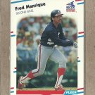 1988 Fleer Baseball Fred Manrique White Sox #406