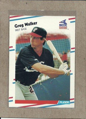 1988 Fleer Baseball Greg Walker White Sox #411