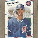 1988 Fleer Baseball Dave Martinez Cubs #424