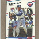 1988 Fleer Baseball Keith Moreland Cubs #425