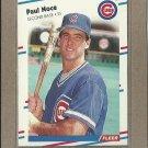 1988 Fleer Baseball Paul Noce Cubs #428