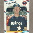1988 Fleer Baseball Jeff Heathcock Astros #450