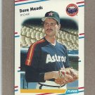 1988 Fleer Baseball Dave Meads Astros #453