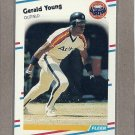 1988 Fleer Baseball Gerald Young Astros #460