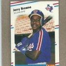 1988 Fleer Baseball Jerry Browne Rangers #462