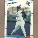 1988 Fleer Baseball Edwin Correa Rangers #464