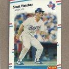 1988 Fleer Baseball Scott Fletcher Rangers #466
