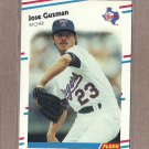 1988 Fleer Baseball Jose Guzman Rangers #467