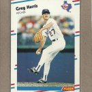 1988 Fleer Baseball Greg Harris Rangers #468