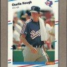1988 Fleer Baseball Charlie Hough Rangers #469