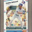 1988 Fleer Baseball Oddibe McDowell Rangers #473