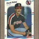 1988 Fleer Baseball Chuck Finley Angels #489