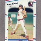 1988 Fleer Baseball Greg Minton Angels #499