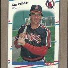 1988 Fleer Baseball Gus Polidor Angels #501