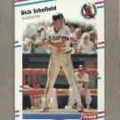 1988 Fleer Baseball Dick Schofield Angels #504