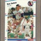 1988 Fleer Baseball Don Sutton Angels #505