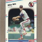1988 Fleer Baseball Mike Witt Angels #507