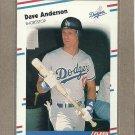 1988 Fleer Baseball Dave Anderson Dodgers #508