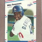 1988 Fleer Baseball Mike Devereaux RC Dodgers #512