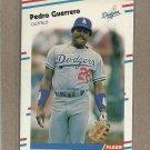 1988 Fleer Baseball Pedro Guerrero Dodgers #514