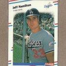 1988 Fleer Baseball Jeff Hamilton Dodgers #515