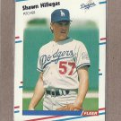 1988 Fleer Baseball Shawn Hillegas Dodgers #519