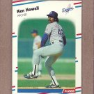 1988 Fleer Baseball Ken Howell Dodgers #520