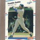 1988 Fleer Baseball Franklin Stubbs Dodgers #527