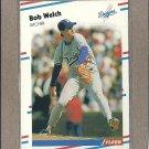 1988 Fleer Baseball Bob Welch Dodgers #529