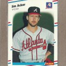 1988 Fleer Baseball Jim Acker Braves #531