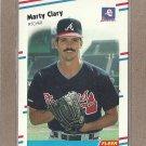 1988 Fleer Baseball Marty Clary Braves #535