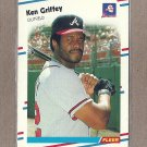 1988 Fleer Baseball Ken Griffey Braves #540