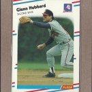 1988 Fleer Baseball Glenn Hubbard Braves #542