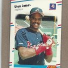 1988 Fleer Baseball Dion James Braves #543