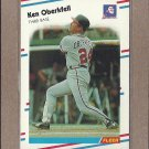 1988 Fleer Baseball Ken Oberkfell Braves #545